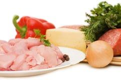 мясо компонентов различное свежее Стоковое фото RF