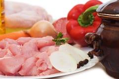 мясо компонентов различное свежее Стоковые Изображения