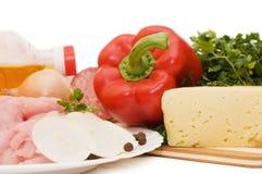 мясо компонентов различное свежее Стоковые Фотографии RF