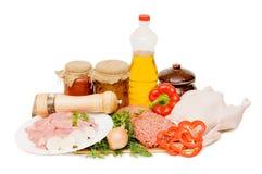 мясо компонентов различное свежее Стоковые Изображения RF