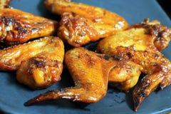 Мясо крылов жареного цыпленка Стоковое Изображение