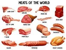 Мясо мира иллюстрация штока