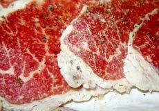 Наградное красное мясо говядины Стоковые Фотографии RF