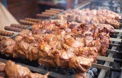 Мясо на барбекю Стоковые Фото