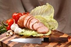 Мясо на прерывая доске Стоковое Изображение
