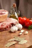 Мясо на прерывая доске Стоковые Изображения RF