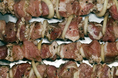 Мясо на протыкальниках Стоковое фото RF