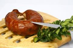 Мясо на плите Стоковая Фотография