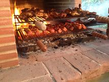 Мясо на решетке стоковое фото