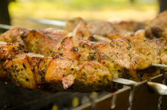 Мясо на BBQ Стоковая Фотография RF