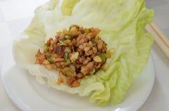 Мясо обруча салата Стоковое фото RF