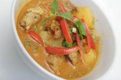 мясо овечки еды карри Азии Стоковая Фотография