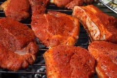 мясо решетки барбекю Стоковые Изображения RF