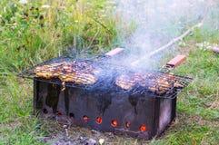 Мясо сварено на гриле стоковое фото rf