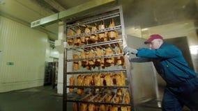 Мясо свинины горяче в печи охлаждает витает курит завод мяса свинины говядины сосиски кашевара акции видеоматериалы