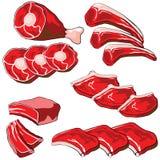 мясо сырцовое Иллюстрация штока