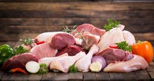 мясо сырцовое Стоковые Фотографии RF