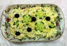 Мясо, сыр и салат фасолей Стоковые Изображения RF