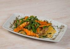 Мясо с морковью и beens стоковое фото rf