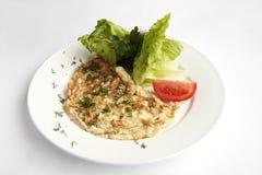 Мясо с салатом Стоковые Фото