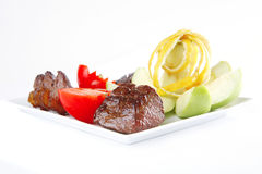мясо тарелки говядины Стоковое фото RF