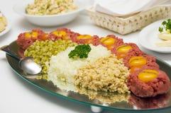 мясо тарелки сырцовое Стоковые Изображения