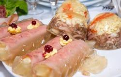 мясо тарелки Стоковые Изображения