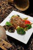 мясо тарелки Стоковое Изображение