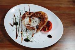 мясо тарелки вкусное Стоковое фото RF