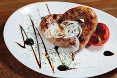 мясо тарелки вкусное Стоковое Изображение RF