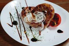 мясо тарелки вкусное Стоковые Фото