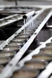 Мясо тунца в обрабатывать чонсервной банкы в manufactory Стоковое Изображение RF
