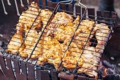 Мясо цыпленка, зажаренное в духовке на гриле стоковое изображение