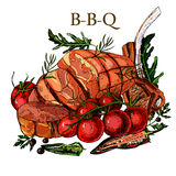 Мясо чертежа руки Бесплатная Иллюстрация