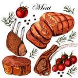 Мясо чертежа руки Иллюстрация штока