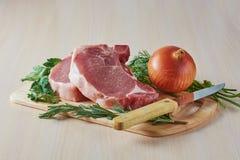 Мясо для жарить Стоковые Изображения RF