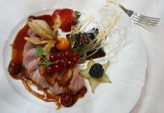 мясо 3 тарелок Стоковое Изображение RF