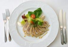 мясо 4 тарелок Стоковые Изображения RF