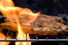 мясо bbq стоковое изображение