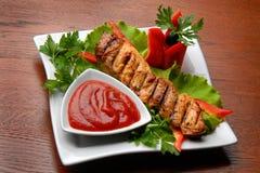 мясо gril Стоковое Изображение RF