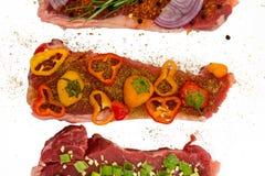 Мяс вкусно закалённые с овощами стоковое фото