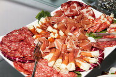 Мяс и шведский стол партии сосиски Стоковая Фотография RF