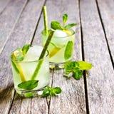 Мята и лимон коктеиля Стоковая Фотография
