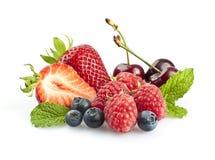 мята листьев вишен ягод Стоковое фото RF