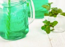 Мята питья свежая с льдом Стоковые Фото