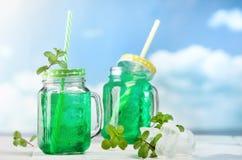Мята питья свежая с льдом Стоковые Изображения