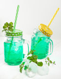 Мята питья свежая с льдом Стоковое Изображение RF