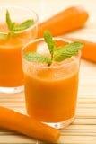 мята сока моркови свежая Стоковое Изображение RF