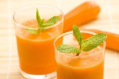 мята сока моркови свежая Стоковое Фото