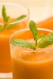 мята сока моркови свежая Стоковая Фотография RF